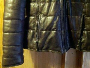 sehr warme Oakwood Damen Stepp- Lederjacke - XL - Echtpelz-Kragen - NP 400,-