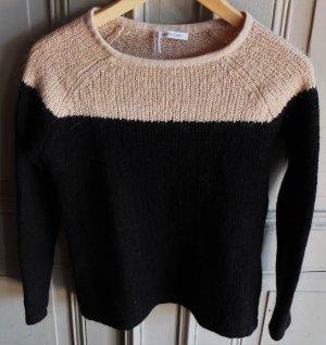 Derek Lam Jersey de lana negro-color oro lana merina