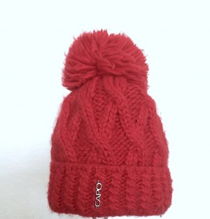 Chapeau pointu rouge framboise-rouge brique laine