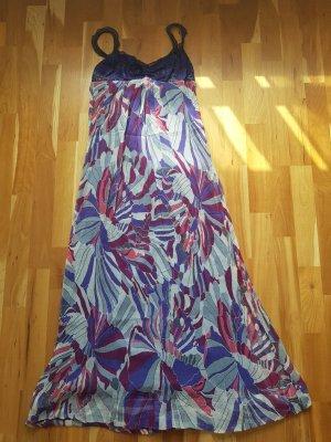 Maxi Dress multicolored silk
