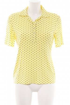 Seidel Polo-Shirt blassgelb-schwarz Punktemuster Casual-Look