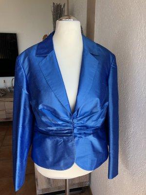 ae elegance Short Blazer blue silk