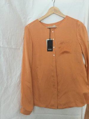 Seiden Bluse in schönem Orange
