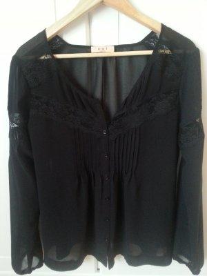 Seiden Bluse in schwarz