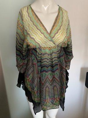 Seiden Bluse Kimono Look Gr 34 36 XS von Apart