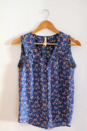 Seiden-Bluse mit japanischem Blumenmuster von Pepe Jeans | Neupreis: 89€