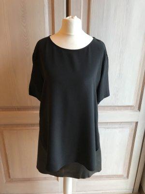 Seiden Bluse Tunika H&M schwarz 36 neu
