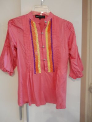 Amor & Psyche Slip-over blouse roze Zijde