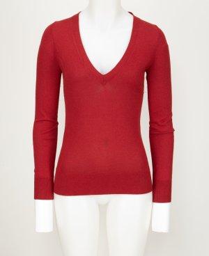 Seiden Cashmere Pullover mit V-Neck