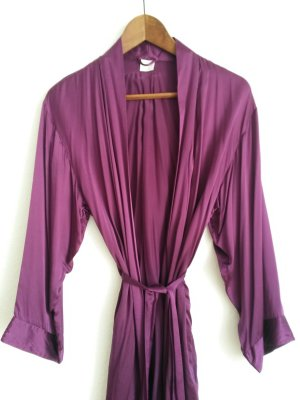 Dressing Gown multicolored silk