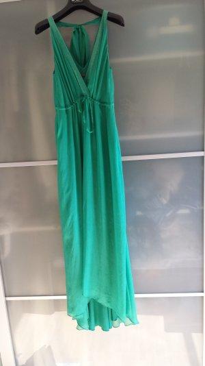 Seiden Kleid/Maxi/Smaragdgrün