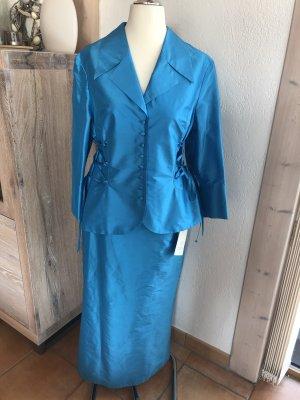 ae elegance Evening Dress turquoise silk
