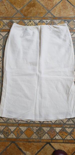 Lands' End Zijden rok wit