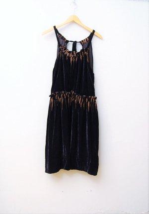 Seiden-Samt Kleid - Rückenfrei