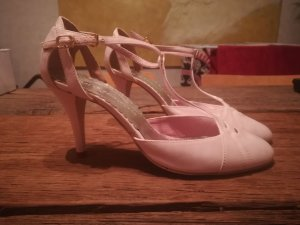 Friis & Company T-Strap Pumps pink-dusky pink silk