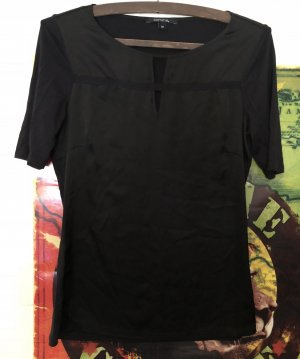 Comma Ribbed Shirt black polyester