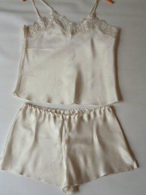 Conjunto de lencería crema Seda