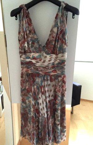 Seiden-Sommerkleid--aktuelles FLOWER-POWER Design--High Fashion