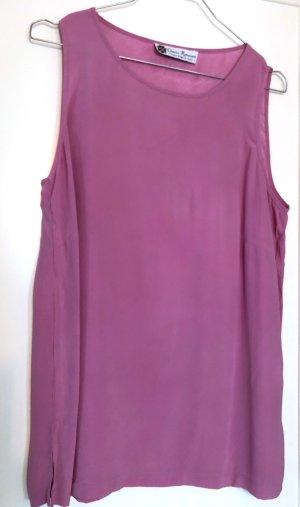 Off-The-Shoulder Top neon pink silk