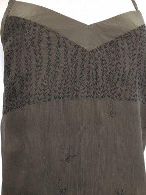Seiden Trägerkleid mit floralen Muster