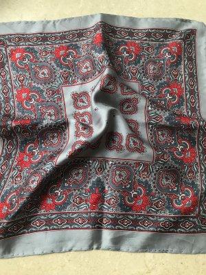 Zijden doek grijs-rood