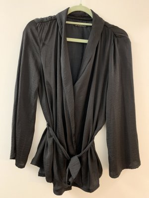 Urban Outfitters Blusa cruzada negro