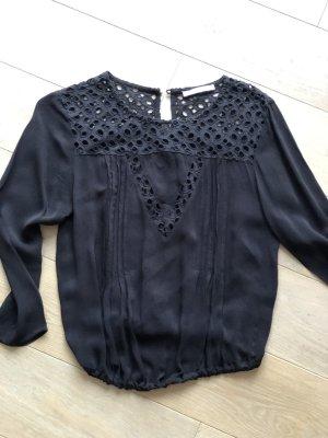 Mango Cropped shirt zwart