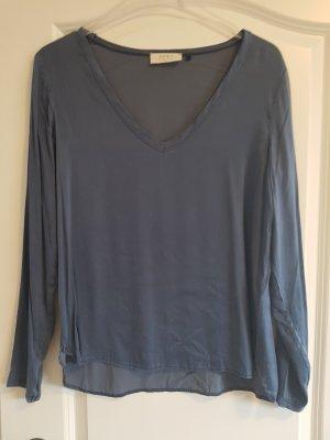 Sack's Blusa de seda azul acero