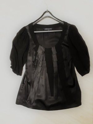 French Connection Silk Blouse black silk