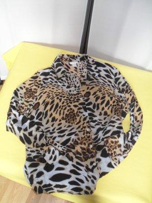 Ashley Brooke Kanten blouse veelkleurig Zijde