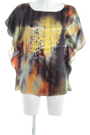 Seidenbluse abstraktes Muster extravaganter Stil