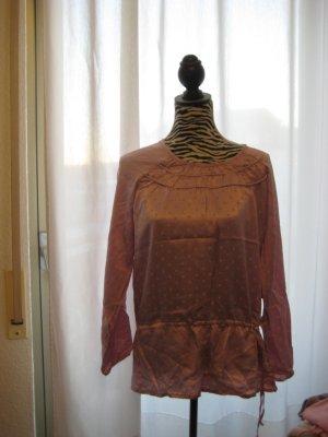 Tchibo / TCM Blusa de manga larga rosa empolvado Seda