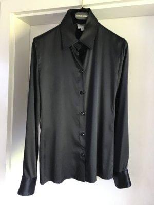 Armani Collezioni Zijden blouse zwart Zijde