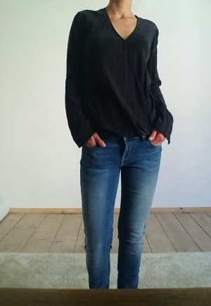 COS Wraparound Blouse black