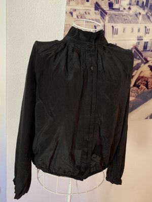 8 Zijden blouse zwart