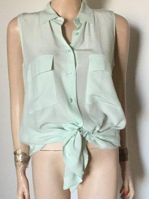 Equipment Silk Blouse pale green silk