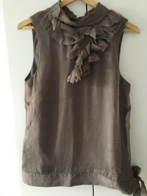Seidenbluse * Gr. S * taupe *s.Oliver Designer Collection