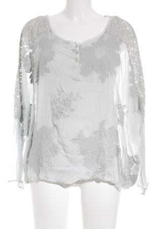 Blouse en soie gris clair style Boho