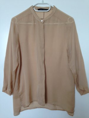 Zara Transparante blouse nude-room