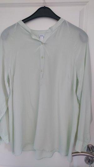 Heine Zijden blouse lichtgroen Zijde