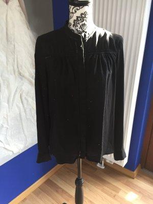 Seidenbluse Massimo Dutti - schwarz