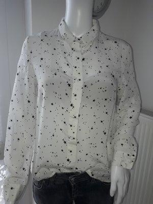 Mrs & HUGS Veste chemisier noir-blanc cassé