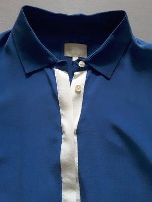 Seidenbluse neu Mrs & Hugs Breuninger blau Gr 40