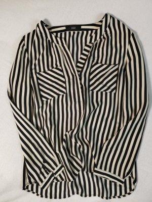 Steffen Schraut Blusa de seda blanco-negro
