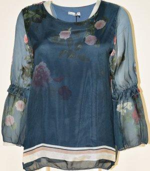 Glanzende blouse veelkleurig Gemengd weefsel