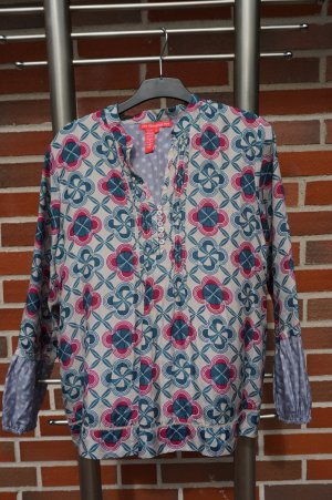 Long Sleeve Blouse multicolored silk