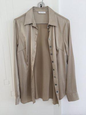 GCfontana Zijden blouse goud-zandig bruin