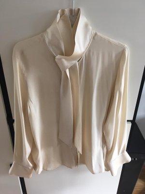 Nice Connection Blusa de seda crema