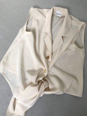 Otto Kern Blusa collo a cravatta crema