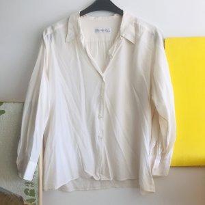 Seidenbluse Wildseide weiß Boho Blogger Oversize top